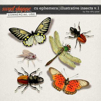 CU EPHEMERA   INSECTS V.1 by The Nifty Pixel