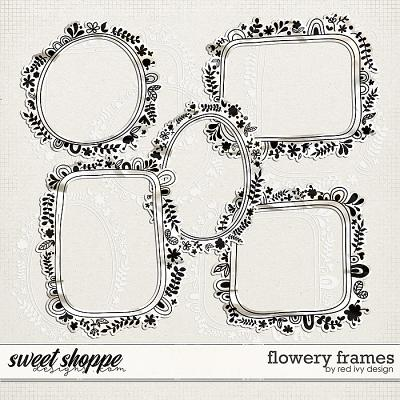 Flowery Frames by Red Ivy Design