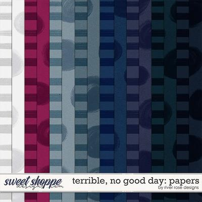 Terrible, No Good Day: Papers by River Rose Designs