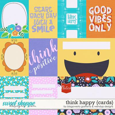 Think Happy - Cards by Blagovesta Gosheva & WendyP Designs