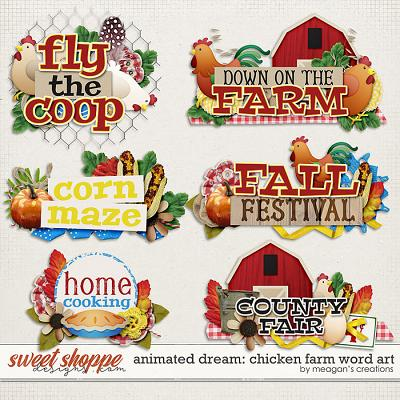 Animated Dream: Chicken Farm Word Art by Meagan's Creations