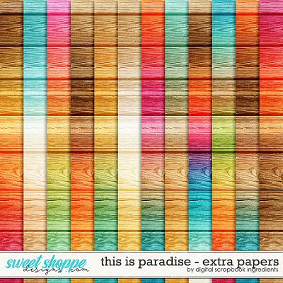 This Is Paradise | Extra Papers by Digital Scrapbook Ingredients