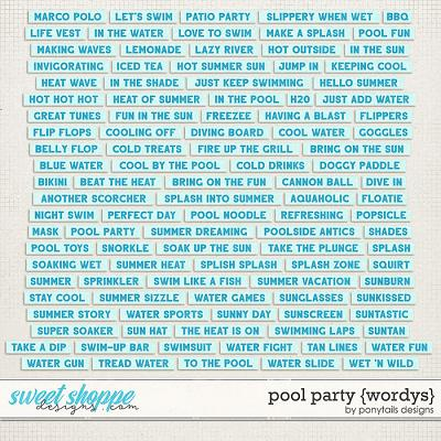 Pool Party Wordys by Ponytails