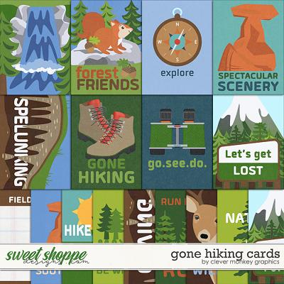 Gone Hiking Cards by Clever Monkey Graphics