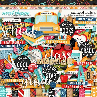 School Rules by Digital Scrapbook Ingredients