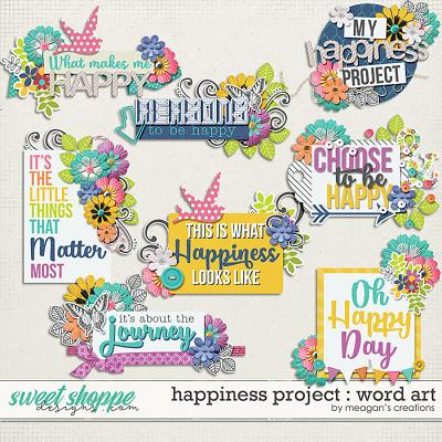 Happiness Project : Word Art by Meagan's Creations