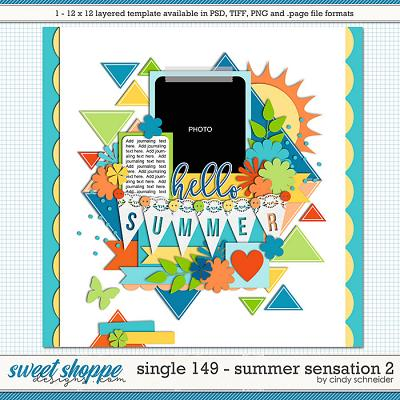 Cindy's Layered Templates - Single 149: Summer Sensations 2 by Cindy Schneider
