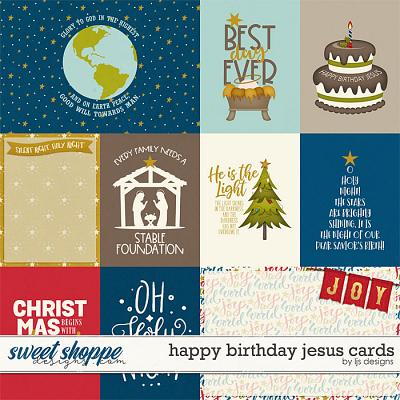 Happy Birthday Jesus Cards by LJS Designs