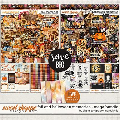Fall & Halloween Memories Mega Bundle & *FWP* by Digital Scrapbook Ingredients