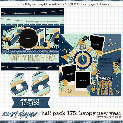 Cindy's Layered Templates - Half Pack 175: Happy New Year by Cindy Schneider
