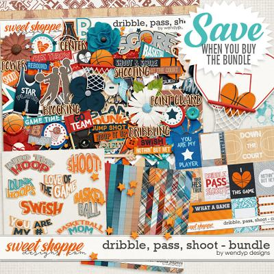 Dribble, pass, shoot - bundle by WendyP Designs