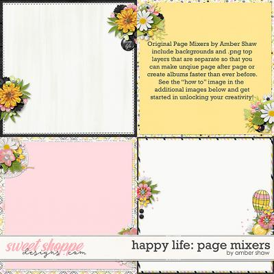 Happy Life: Page Mixers by Amber Shaw