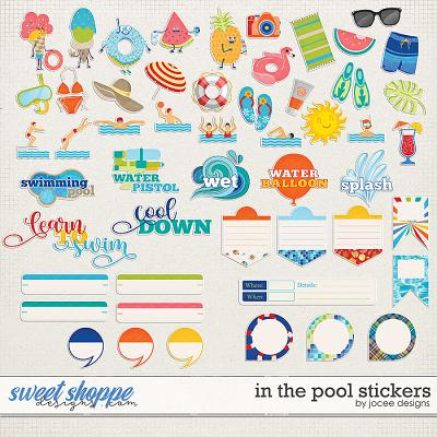 In the Pool Stickers by JoCee Designs
