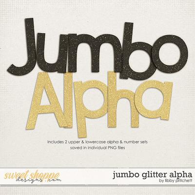 Jumbo Glitter Alpha by Libby Pritchett