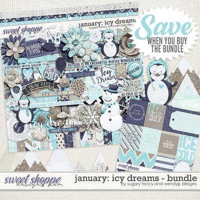 January: Icy Dreams Bundle by Sugary Fancy & WendyP Designs