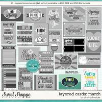 Cindy's Layered Cards: March Edition by Cindy Schneider
