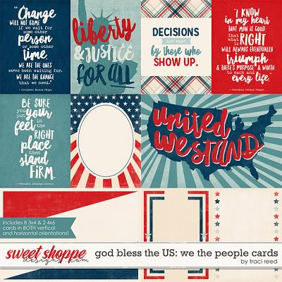 God Bless The US: We The People Cards by Traci Reed