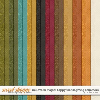 Believe in Magic: Happy Thanksgiving Shimmers by Amber Shaw