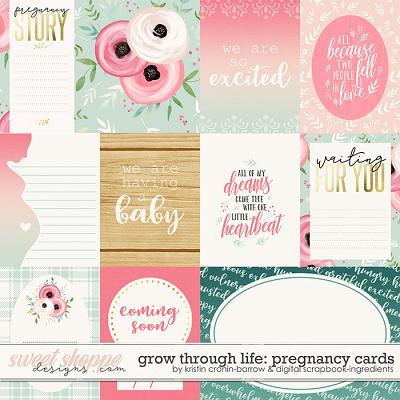 Grow Through Life - Pregnancy | Cards by Kristin Cronin-Barrow & Digital Scrapbook Ingredients