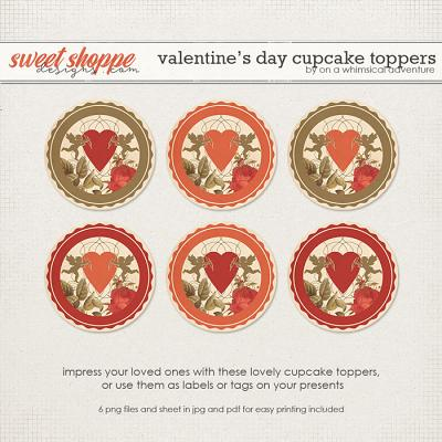 Valentine's Day Cupcake Toppers by On A Whimsical Adventure