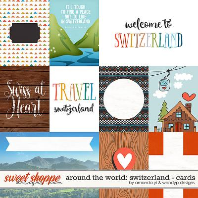 Around the world: Switzerland cards by Amanda Yi & WendyP Designs