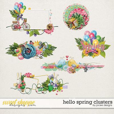 Hello Spring Clusters by JoCee Designs
