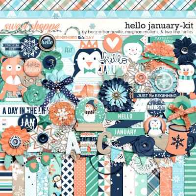 Hello January by Becca Bonneville, Meghan Mullens & Two Tiny Turtles