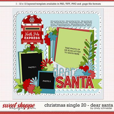 Cindy's Layered Templates - Christmas Single 20: Dear Santa by Cindy Schneider