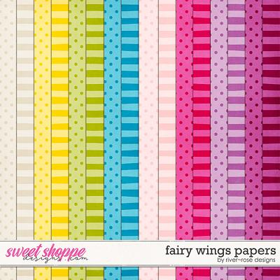 Fairy Wings Papers by River Rose Designs