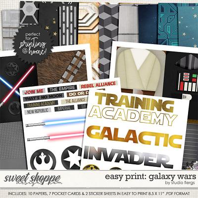 Easy Print: GALAXY WARS by Studio FlergsRemember the Magic: GALAXY WARS- EZ PRINT by Studio Flergs