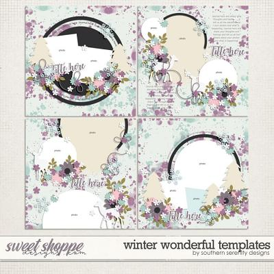 Winter Wonderful Layered Templates by Southern Serenity Designs