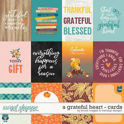 A Grateful Heart - Cards by Brook Magee & WendyP Designs
