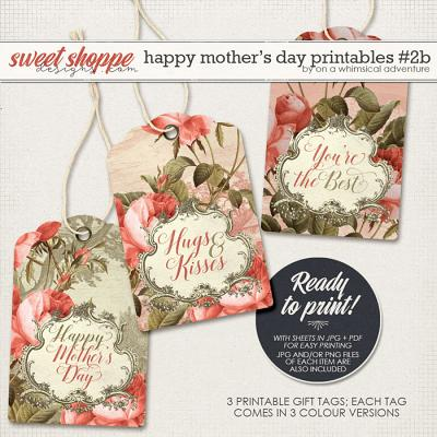 Happy Mother's Day Printable Gift Tags Red by On A Whimsical Adventure