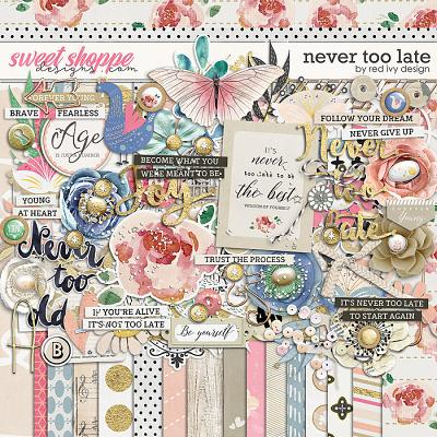 Never Too Late by Red Ivy Design