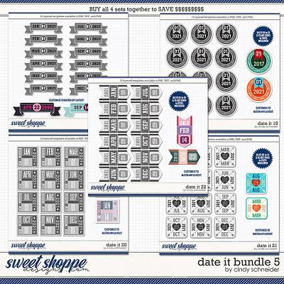 Cindy's Layered Templates - Date It Bundle 5 by Cindy Schneider