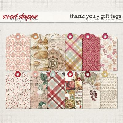 Thank You Gift Tags by On A Whimsical Adventure
