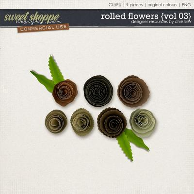 Rolled Flowers {Vol 03} by Christine Mortimer