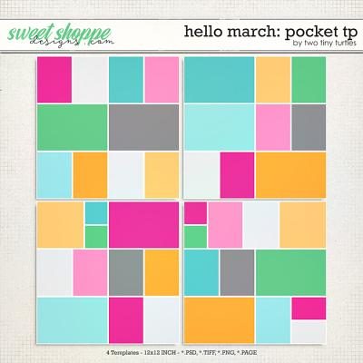 Hello March: Pocket Templates by Two Tiny Turtles