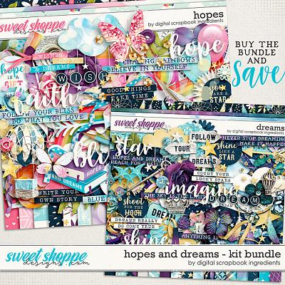Hopes & Dreams Kit Bundle by Digital Scrapbook Ingredients