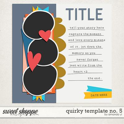 Quirky template no. 5 by Amanda Yi