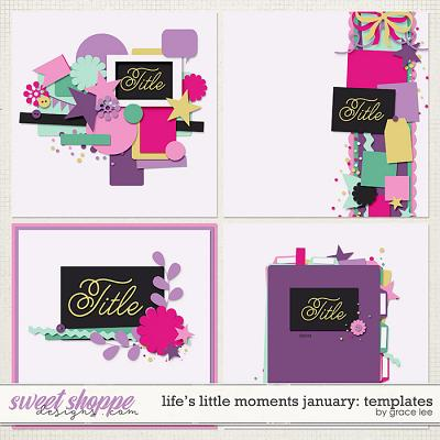 Life's Little Moments January Templates by Grace Lee