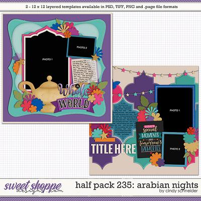 Cindy's Layered Templates - Half Pack 235: Arabian Nights by Cindy Schneider