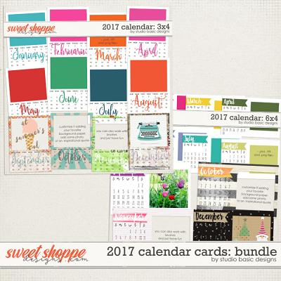 2017 Calendar Cards: Bundle by Studio Basic