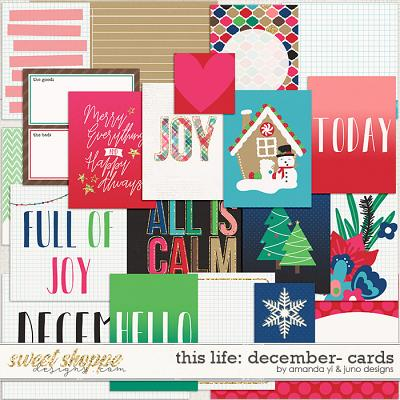 This Life: December - Cards by Amanda Yi & Juno Designs