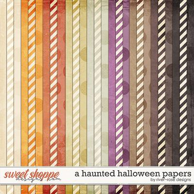 A Haunted Halloween Papers by River Rose Designs