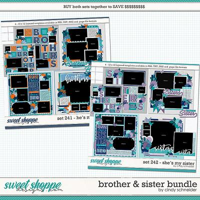 Cindy's Layered Templates - Brother and Sister Bundle by Cindy Schneider
