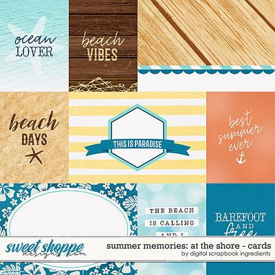 Summer Memories: At The Shore | Cards by Digital Scrapbook Ingredients