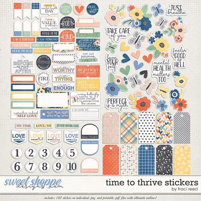 Time to Thrive Stickers by Traci Reed