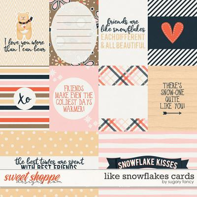 Like Snowflakes Cards by Sugary fancy