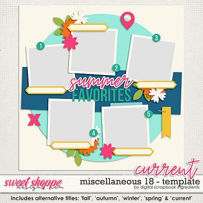 Miscellaneous 18 Template by Digital Scrapbook Ingredients